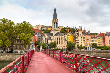 Footbridge in Lyon, France
