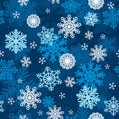 Snowflakes Winter Wallpaper Seamless Pattern