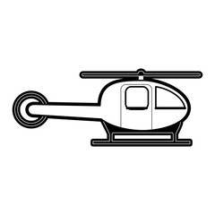 helicopter transport icon image vector illustration design  black and white