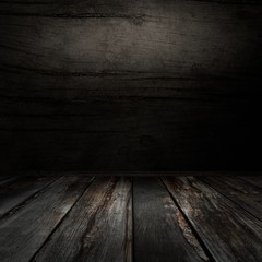 Dark wooden wall