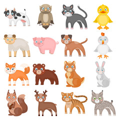 Businesses, ecology, nature, and other web icon in cartoon style.Forest, zoo, farm icons in set collection.