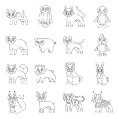 Businesses, ecology, nature, and other web icon in outline style.Forest, zoo, farm icons in set collection.