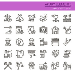 Apiary Elements , Thin Line and Pixel Perfect Icons.