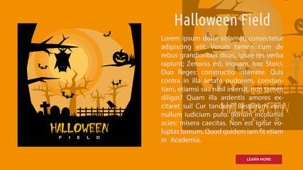 Halloween Field Conceptual Banner