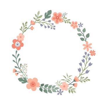 Wreath of wild flowers.