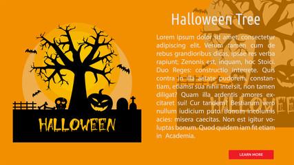 Halloween Tree Conceptual Banner