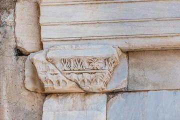 Marble reliefs in Ephesus historical ancient city, in Selcuk,Izmir,Turkey.