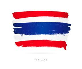 Flag of Thailand. Brush strokes