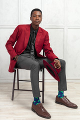 young male african american model
