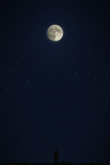 Man watching the moon