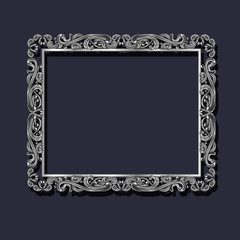 frame silver color with shadow