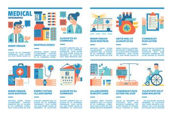 Medical Infographics, Medical Flat design Illustration