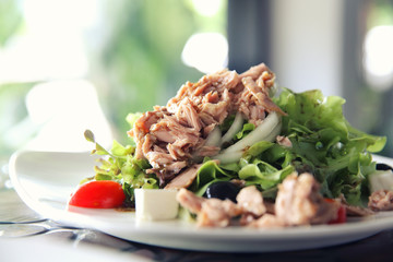 Fresh tuna salad , Italian snack food