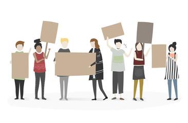Illustration of people vector set