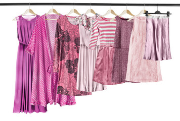 Pink clothes isolated