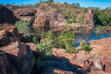 Upper Pools at Edith Falls, on Leilyn Trail along Edith River, in the Nitmiluk National Park, Australia