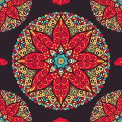Seamless pattern from handdrawn coloring mandala. Islam, Arabic, Indian, turkish, pakistan, chinese, ottoman motifs. Vector illustration