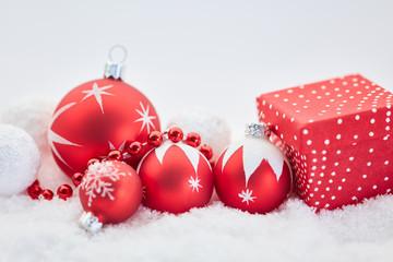 Dekoration für frohe Weihnachten Karte