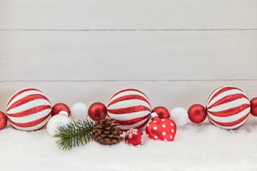 Weihnachten Dekoration mit Holz