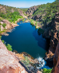Panoramic view from above at Edith Falls, Northern Territory, Australia.