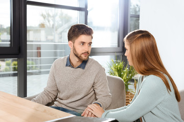 young couple at psychotherapy