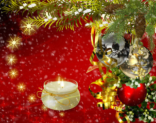 Christmas greetings, festive background for the images. 3D rendering