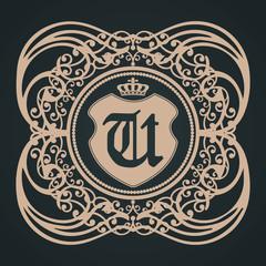 u letter gothic shield