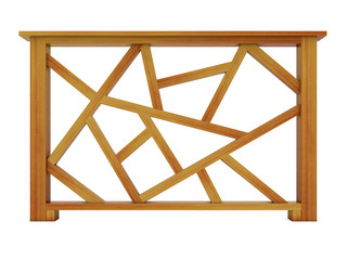 Ipe design wood railing