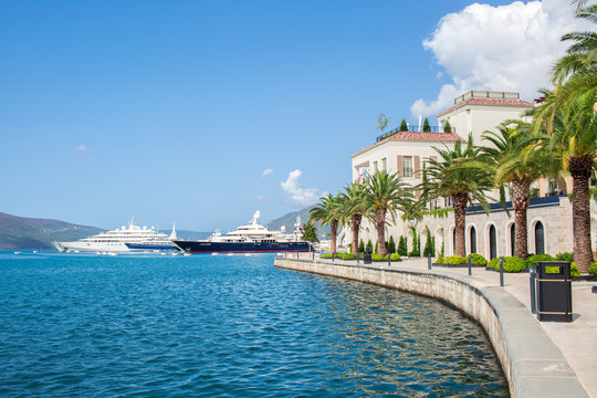 Shoreline Tivat city Montenegro