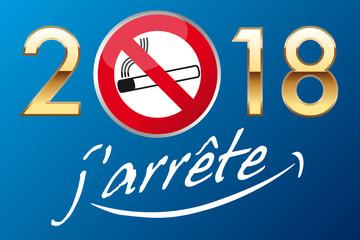 2018 - cigarette - tabac - fumer - arrêter de fumer -bonnes résolution - carte de vœux