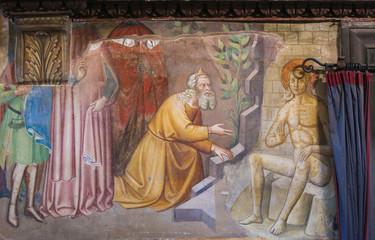 Fresco in San Gimignano - Book of Job