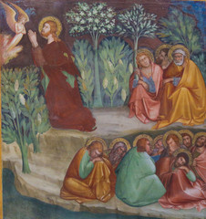 Fresco in San Gimignano - Jesus in the Garden of Gethsemane