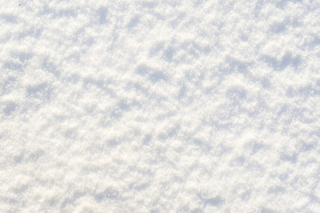 White texture of snow, background, snowflakes surface