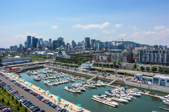 old port downtown of montreal canada