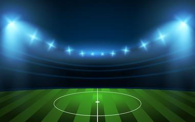 Football stadium. Soccer arena.
