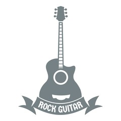 Guitar logo, simple gray style