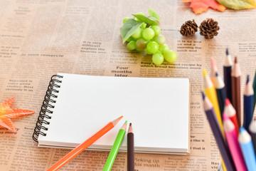 色鉛筆 秋イメージ