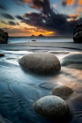 Cornwall sunset seascape