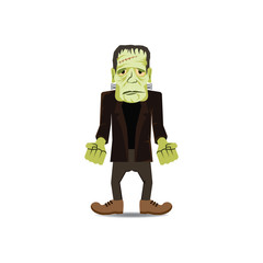 Cute Cartoon Halloween character - Frankenstein