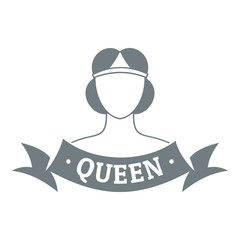Queen logo, simple gray style