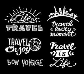 Hand drawn lettering. Travel illustration