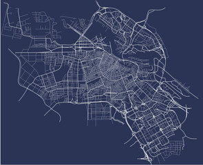 vector map of the city of Amsterdam, Netherlands