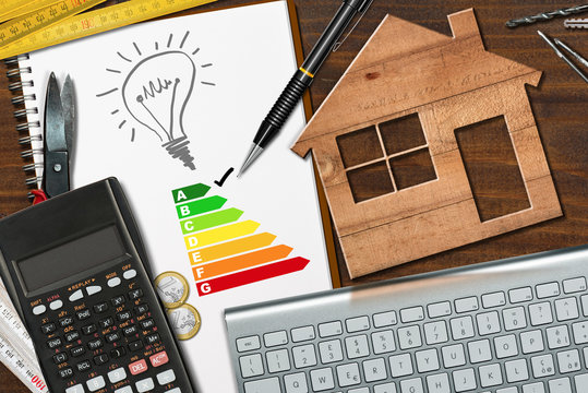 Energy Efficiency Rating - Wooden House Model