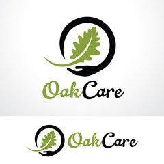 Oak Care Logo Template Design Vector, Emblem, Design Concept, Creative Symbol, Icon
