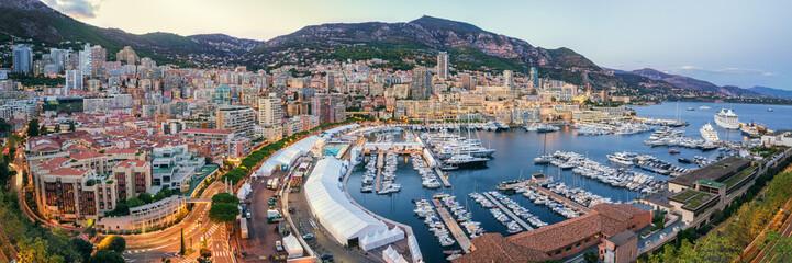 Monaco Port Sunset view