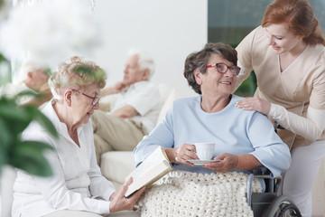 Elder ladies spending time