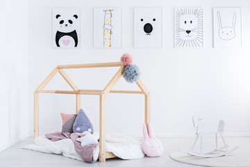 Rocking horse in child's bedroom