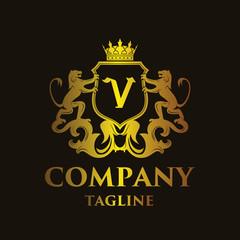 luxury Letter 'V' Logo