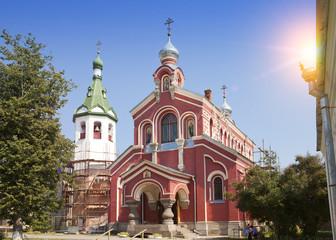 Old Ladoga Nikolsky monastery , presumably 13th century. Russia. ..