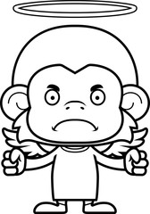 Cartoon Angry Angel Monkey